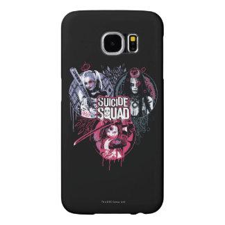 Suicide Squad | Squad Girls Graffiti Badges Samsung Galaxy S6 Cases