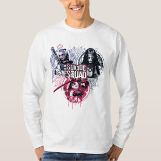 Suicide Squad | Squad Girls Graffiti Badges T-Shirt