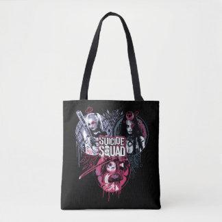 Suicide Squad | Squad Girls Graffiti Badges Tote Bag