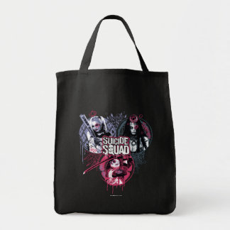 Suicide Squad | Squad Girls Graffiti Badges Tote Bag