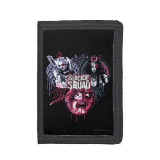 Suicide Squad | Squad Girls Graffiti Badges Trifold Wallet