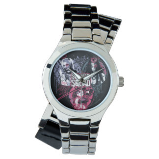 Suicide Squad | Squad Girls Graffiti Badges Watch