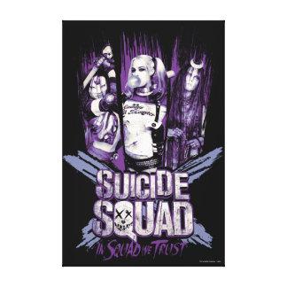 """Suicide Squad   Squad Girls """"In Squad We Trust"""" Canvas Print"""
