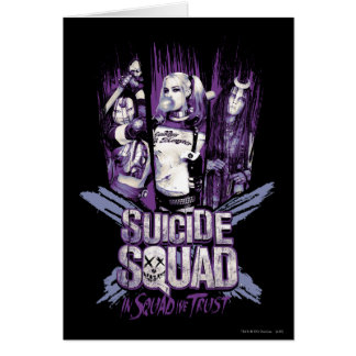 "Suicide Squad | Squad Girls ""In Squad We Trust"" Card"