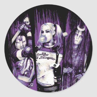 "Suicide Squad | Squad Girls ""In Squad We Trust"" Classic Round Sticker"
