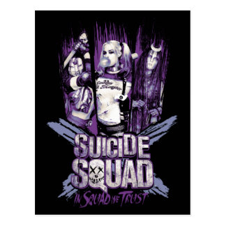 "Suicide Squad | Squad Girls ""In Squad We Trust"" Postcard"
