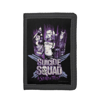 """Suicide Squad   Squad Girls """"In Squad We Trust"""" Trifold Wallets"""