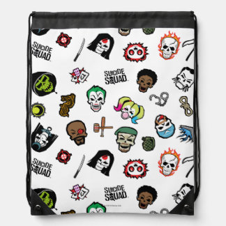 Suicide Squad | Suicide Squad Emoji Pattern Drawstring Bag