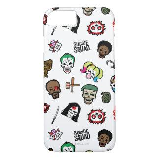 Suicide Squad | Suicide Squad Emoji Pattern iPhone 8/7 Case