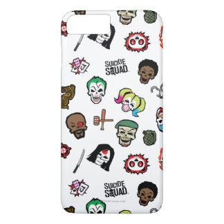 Suicide Squad | Suicide Squad Emoji Pattern iPhone 8 Plus/7 Plus Case