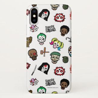 Suicide Squad | Suicide Squad Emoji Pattern iPhone X Case