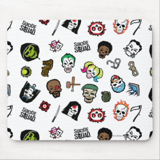 Suicide Squad | Suicide Squad Emoji Pattern Mouse Pad