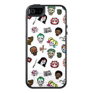Suicide Squad | Suicide Squad Emoji Pattern OtterBox iPhone 5/5s/SE Case