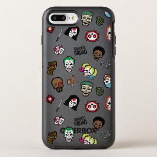 Suicide Squad | Suicide Squad Emoji Pattern OtterBox Symmetry iPhone 8 Plus/7 Plus Case