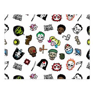 Suicide Squad | Suicide Squad Emoji Pattern Postcard