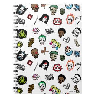 Suicide Squad | Suicide Squad Emoji Pattern Spiral Notebook