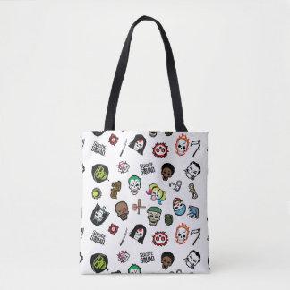 Suicide Squad | Suicide Squad Emoji Pattern Tote Bag