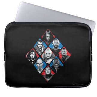 Suicide Squad | Task Force X Checkered Diamond Laptop Sleeve