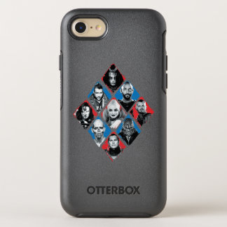 Suicide Squad | Task Force X Checkered Diamond OtterBox Symmetry iPhone 8/7 Case