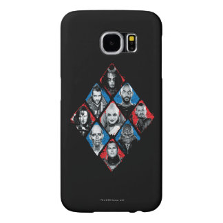 Suicide Squad | Task Force X Checkered Diamond Samsung Galaxy S6 Cases