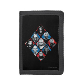 Suicide Squad | Task Force X Checkered Diamond Tri-fold Wallet