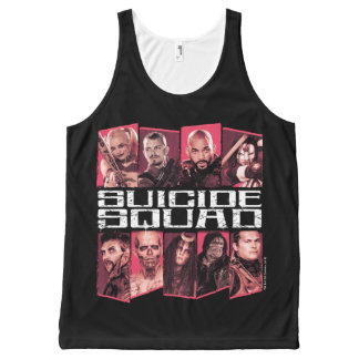 Suicide Squad | Task Force X Group Emblem All-Over Print Tank Top