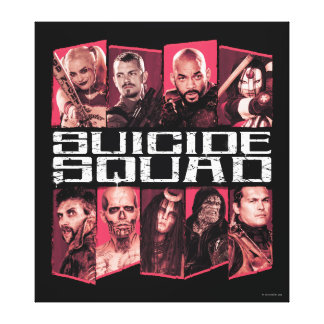 Suicide Squad   Task Force X Group Emblem Canvas Print