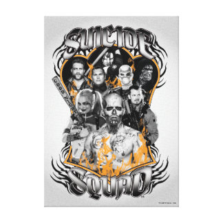 Suicide Squad | Task Force X Tribal Tattoo Canvas Print