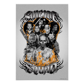 Suicide Squad | Task Force X Tribal Tattoo Poster