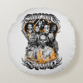Suicide Squad | Task Force X Tribal Tattoo Round Cushion