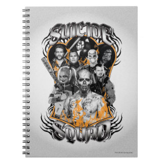Suicide Squad | Task Force X Tribal Tattoo Spiral Notebook