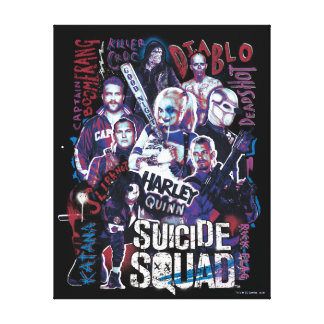 Suicide Squad | Task Force X Typography Photo Canvas Print