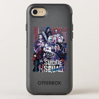 Suicide Squad | Task Force X Typography Photo OtterBox Symmetry iPhone 8/7 Case