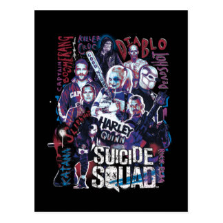 Suicide Squad | Task Force X Typography Photo Postcard
