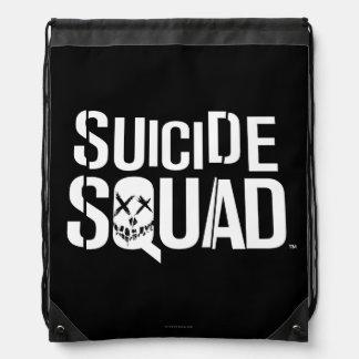 Suicide Squad | White Logo Drawstring Bag