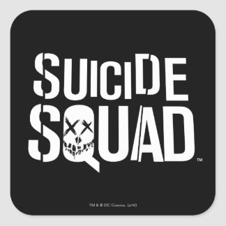 Suicide Squad | White Logo Square Sticker