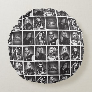 Suicide Squad | Yearbook Pattern Round Cushion