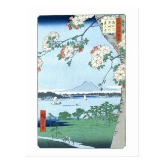 Suijin Shrine Massaki Hiroshige Japanese Fine Art Postcard