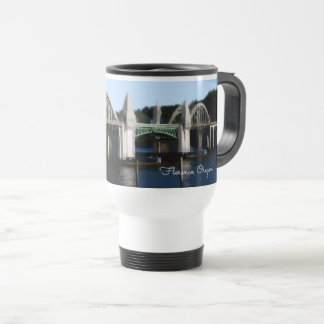 Suislaw River Bridge Florence Oregon Travel Mug
