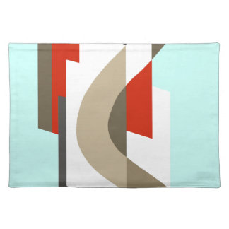 SUISSE: Art Deco Moderne: Sixties Office, Mad Men Placemat