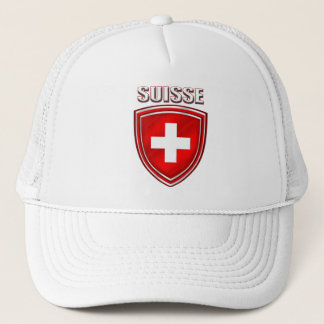 Suisse logo shield emblem flag of Switzerland Trucker Hat