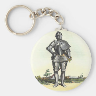 Suit of armor with backdrop key ring