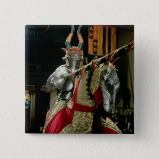 Suit of armour and matching horse armour 15 cm square badge