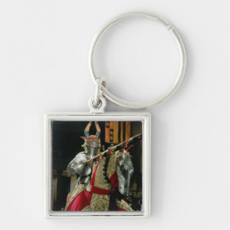 Suit of armour and matching horse armour key ring