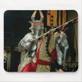 Suit of armour and matching horse armour mouse mat