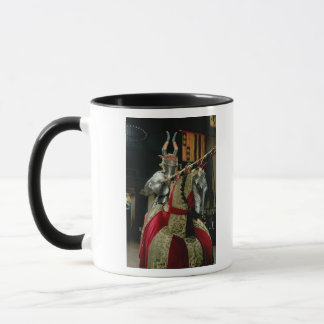 Suit of armour and matching horse armour mug