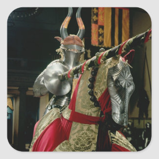 Suit of armour and matching horse armour square sticker
