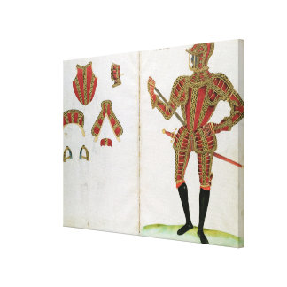 Suit of Armour for Lord Compton, from 'An Elizabet Canvas Print