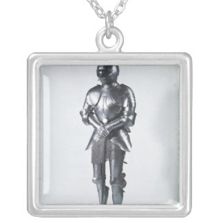 Suit of armour with poulaines, c.1480 silver plated necklace