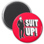 Suit Up! 6 Cm Round Magnet